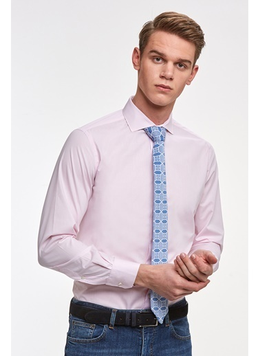 Hemington Italyan Yaka Pamuk Business Gömlek Pembe